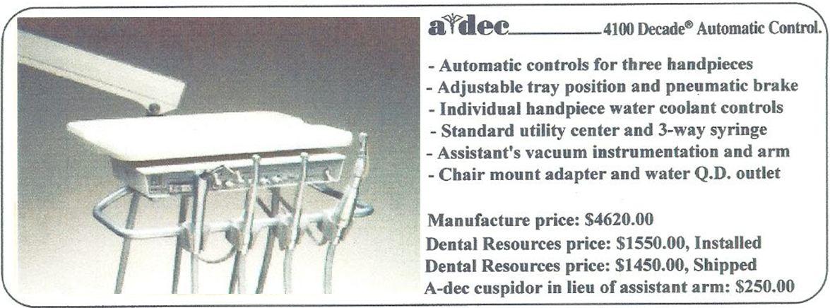 A-dec 4100 Decade